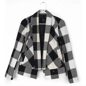 Jack by BB Dakota black/white buffalo plaid jacket